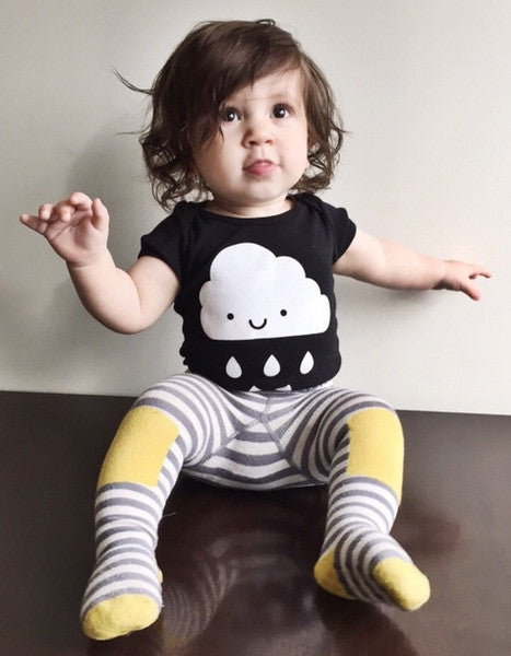 whistle and flute kawaii cloud bodysuit baby onesie