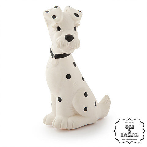 oli and carol vintage rubber dalmatian baby teething and bath toy
