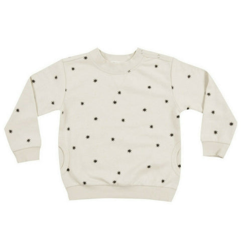 Rylee + Cru Starlight sweatshirt unisex boys girls cream