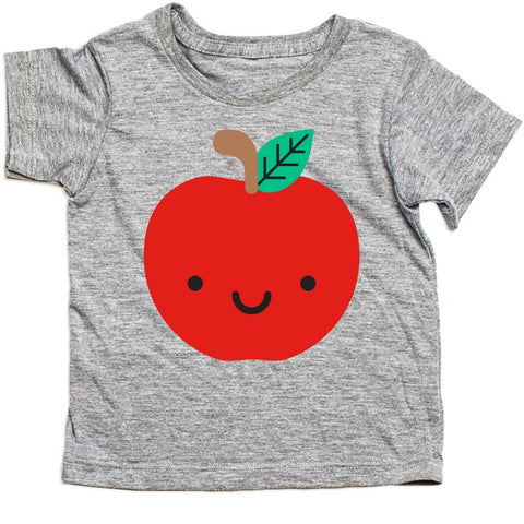whistle and flute kawaii apple t-shirt kids unisex