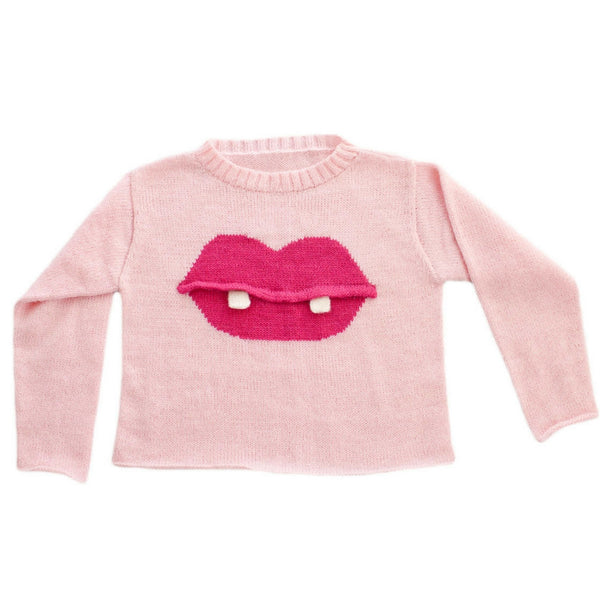 aquarium kidz pink girls lips sweater