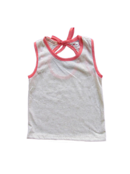 cavelle kids peep hole top girls tank top coral front
