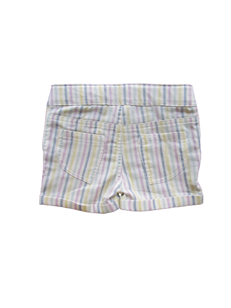 cavelle kids button bottom girls shorts stripe