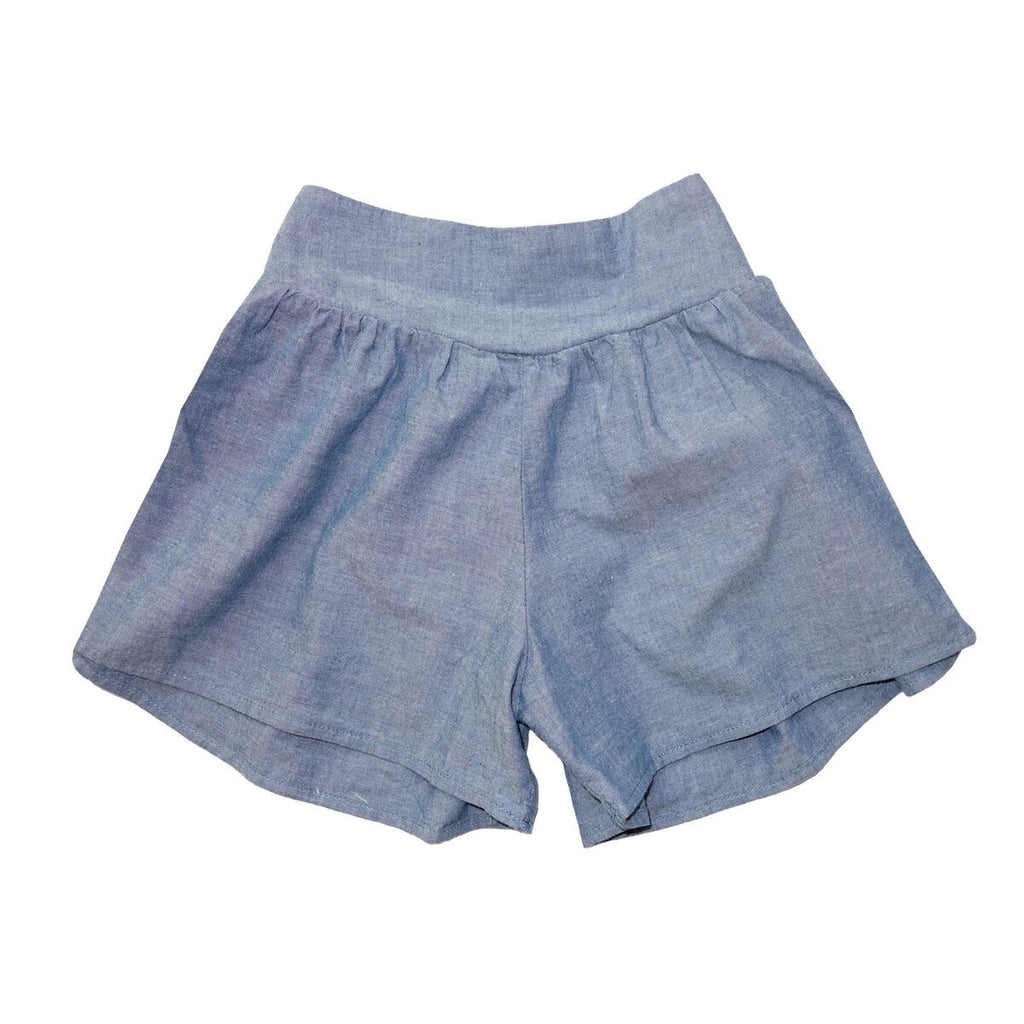 nico nico benatar chambray blue girls shorts