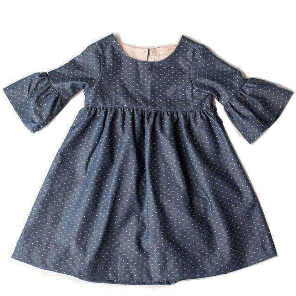 cavelle kids lily girls dress navy dot