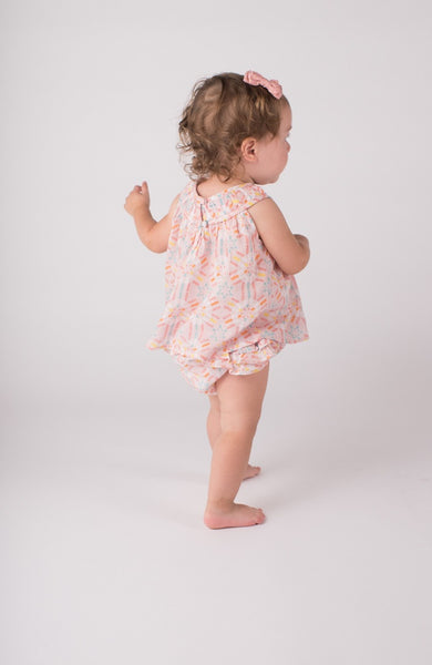 lali kids baby dress with ruffled bloomers pinwheel print back