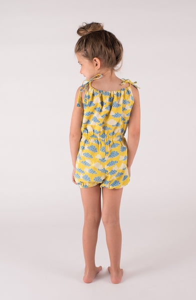 lali kids come play onepiece romper cloud print girls back view