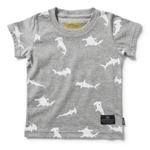 munster kids fin boys t-shirt grey