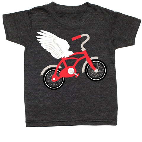 whistle and flute flying bicycle t-shirt kids unisex