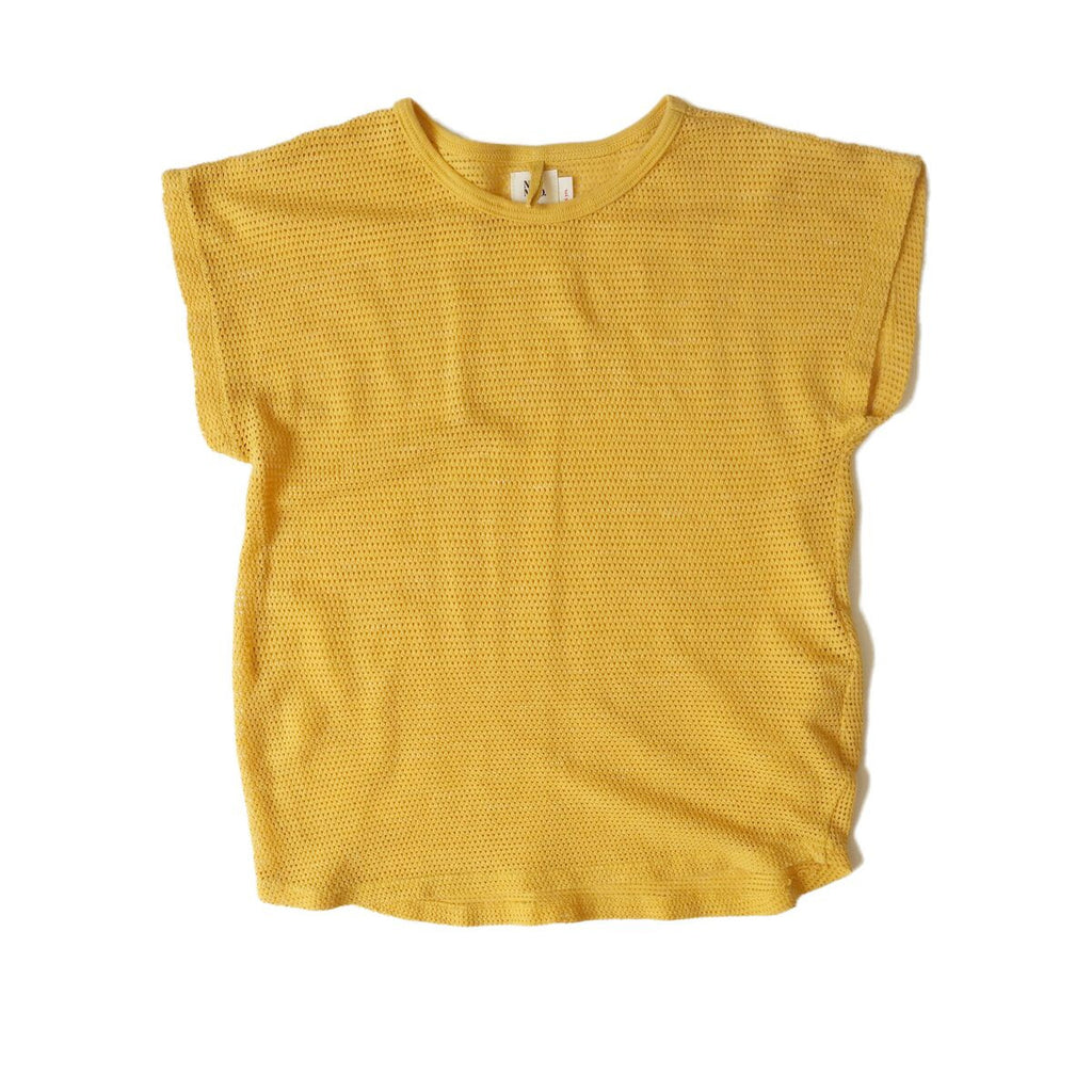 nico nico fonda mesh top yellow shirt for girls boys
