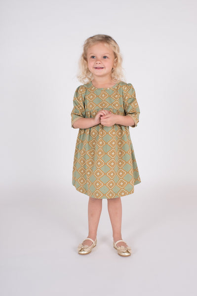 lali kids gabby dress mosaic print girls dress