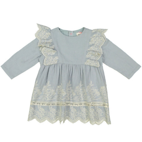 louise misha hermalia dress cloud blue