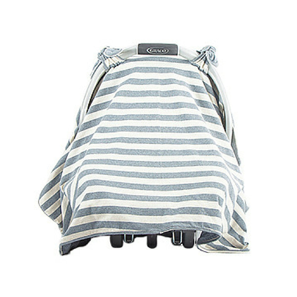 mikoleon car seat wide striped denim canapy baby car seat cover