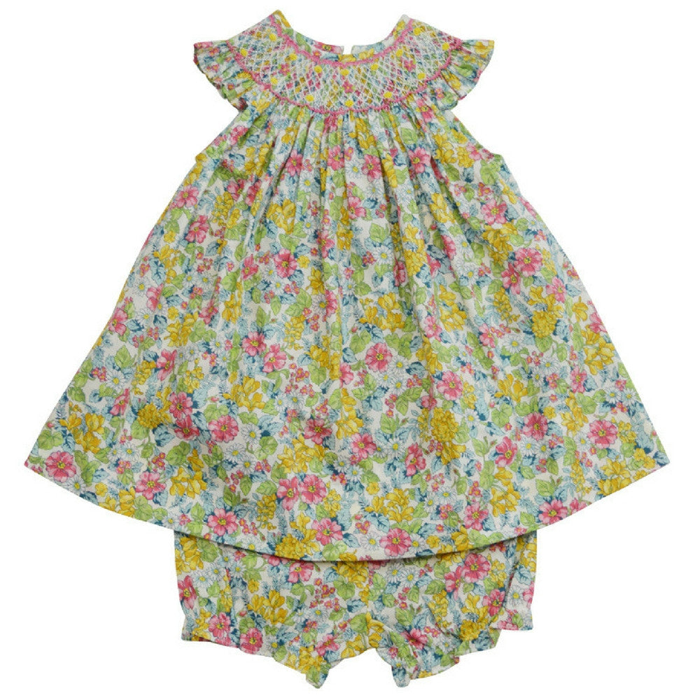 marco and lizzy spring flower bishop dress