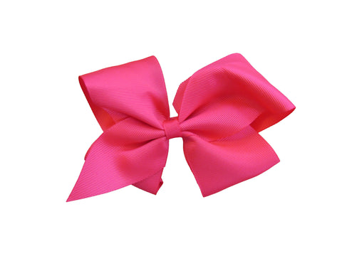 the hair bow company classic grosgrain hair bow hot pink