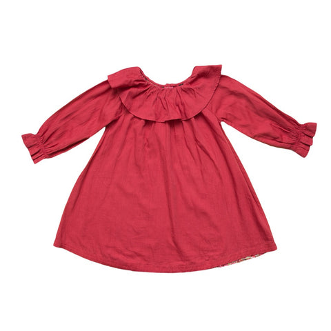 marin + morgan ruffled collar peasant sleeve girls dress