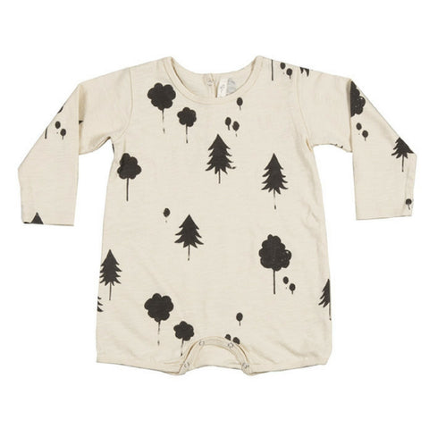 rylee and cru baby long sleeve forest romper