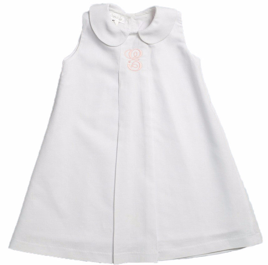 dondolo hampton girls dress white