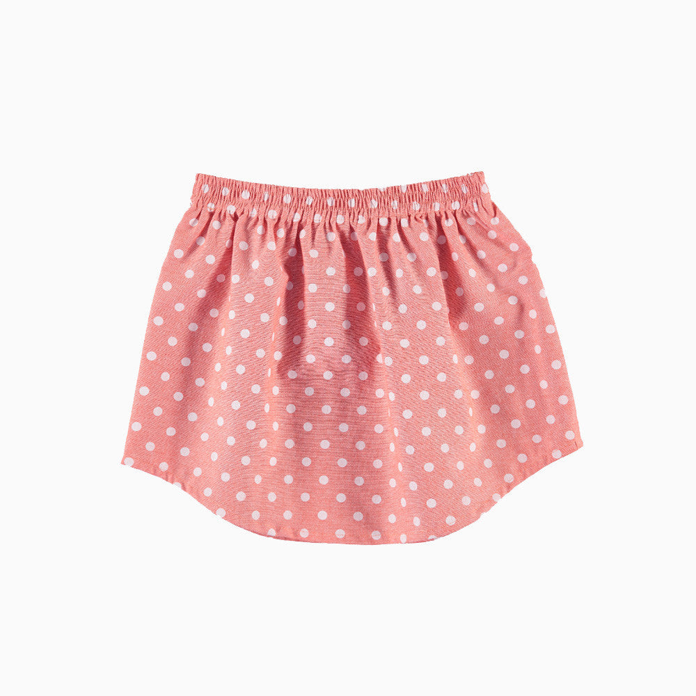 ultra violet kids coral dot yoke skirt girls