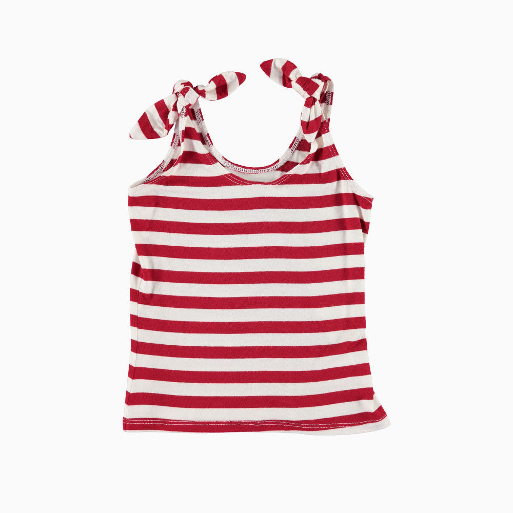 ultra violet kids red stripe tie tank girls tank top