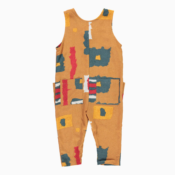 ultra violet kids jordan jumpsuit desert paint kids romper back view
