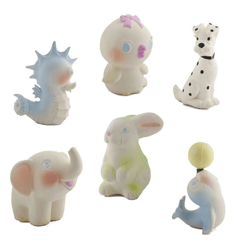 oli and carol vintage rubber animals baby teething and bath toy