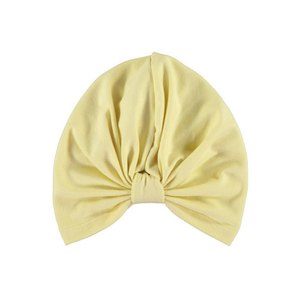 ultra violet kids butter yellow baby turban
