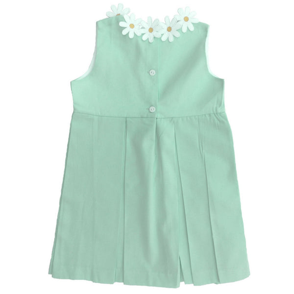 dondolo margaret dress with daisy flower detail back