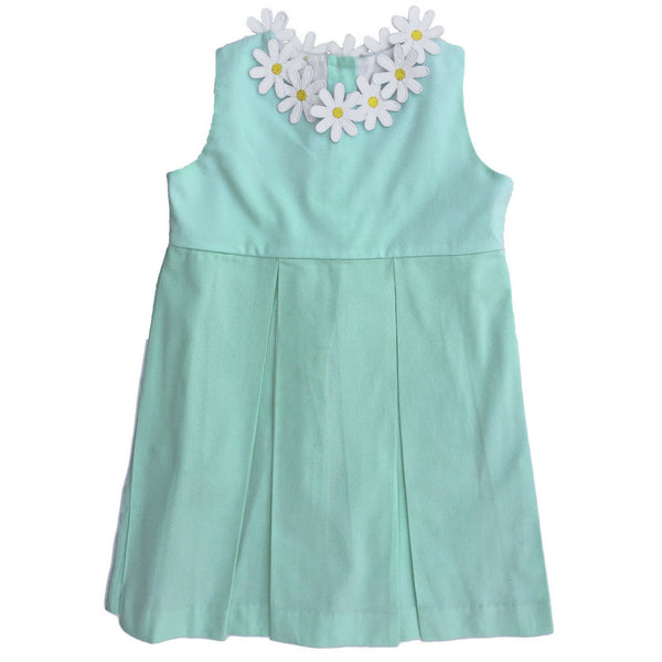 dondolo margaret dress with daisy flower detail front