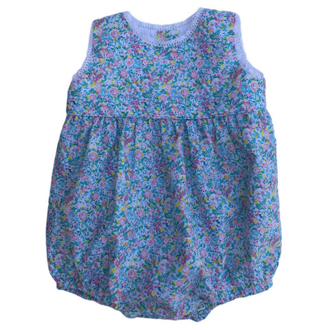 dondolo mia floral blue baby bubble front