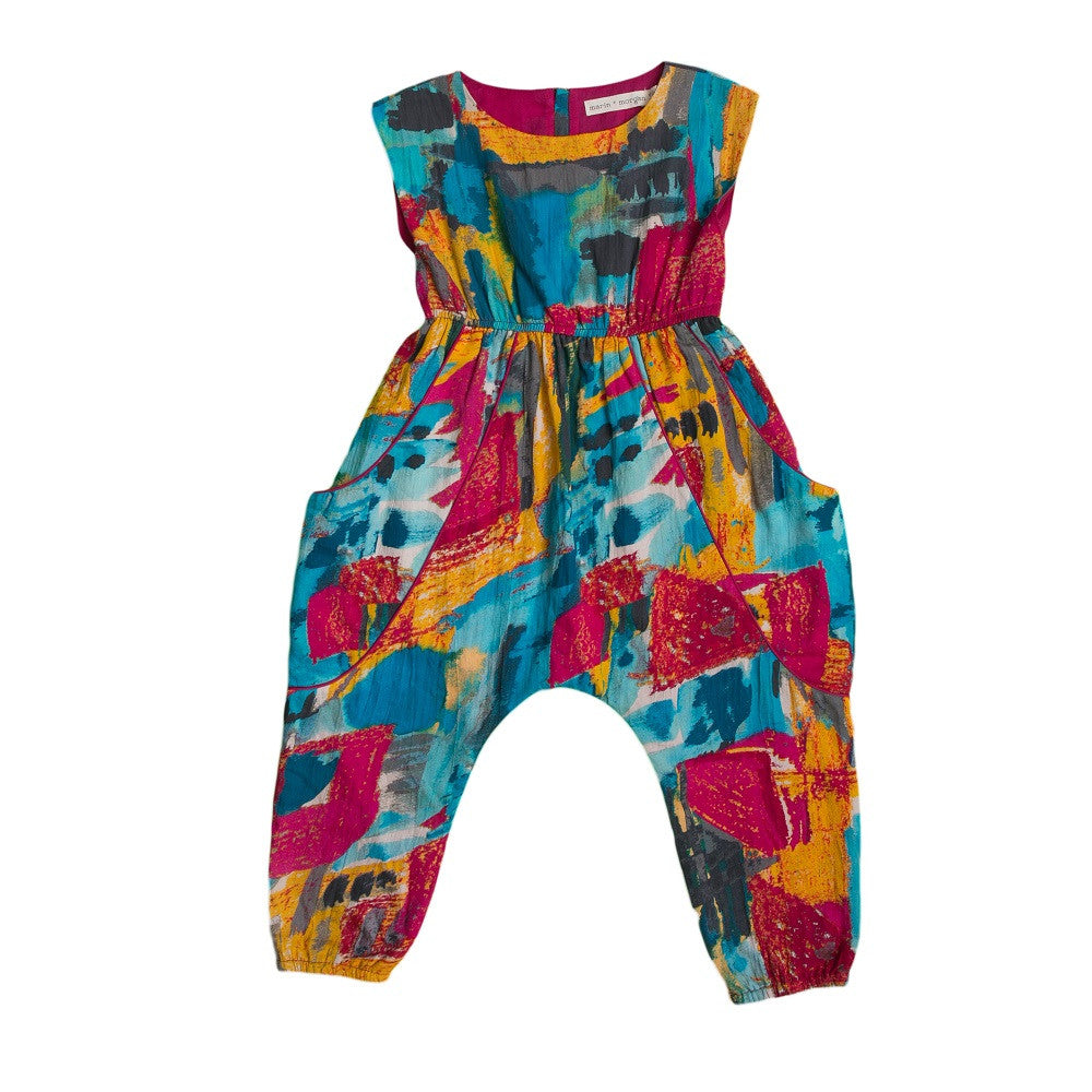 marin + morgan harem jumpsuit with pockets girls romper