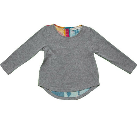 marin + morgan long sleeve high low tee girls shirt