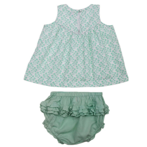 lali kids baby anya set green clover