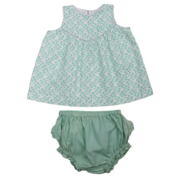 lali kids baby anya set green clover back