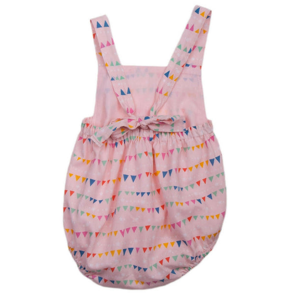lali kids baby sun romper flags back