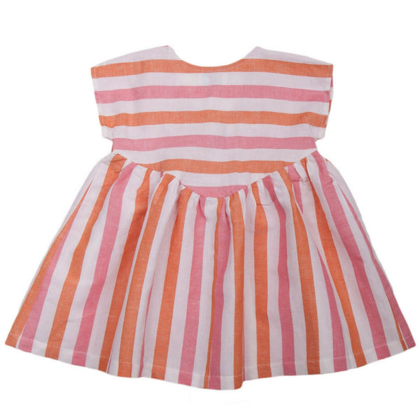 lali kids camellia dress stripe back