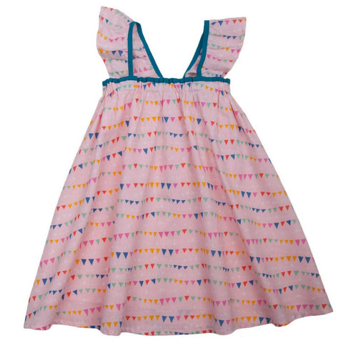 lali kids molly dress flags pink print