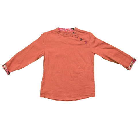 marin + morgan mandarin collar tunic asymmetrical neckline boys shirt