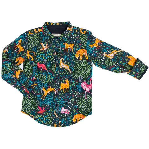 marin and morgan boys basic shirt madagascar print