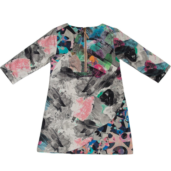 marin and morgan girls shift dress mod robot print back