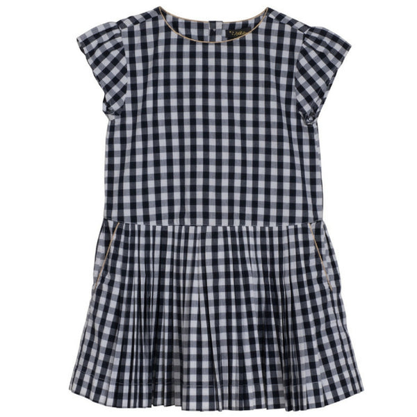 velveteen bea dress midnight gingham check
