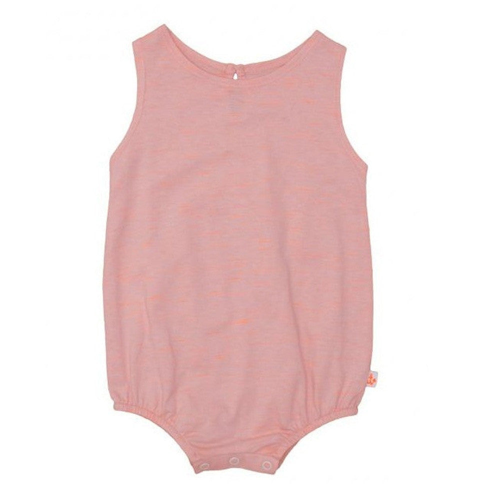 noe and zoe peach puffy romper baby onesie
