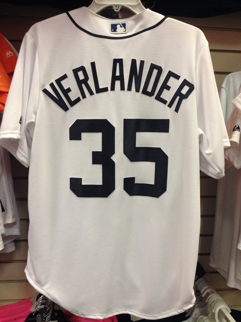 outlet store 993ab ab032 Justin Verlander Detroit Tigers White Home Majestic Cool Base Jersey  STITCHED
