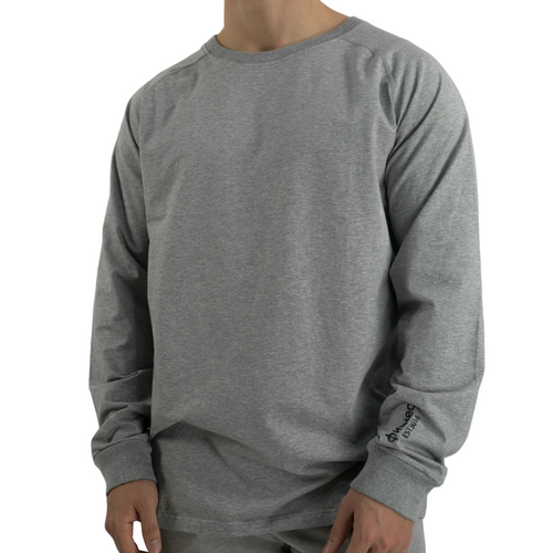 Oversized Rayon Long Sleeve - Heather Grey
