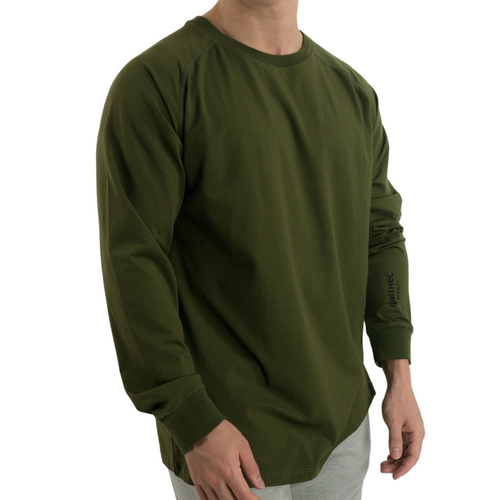 Oversized Rayon Long Sleeve - Olive