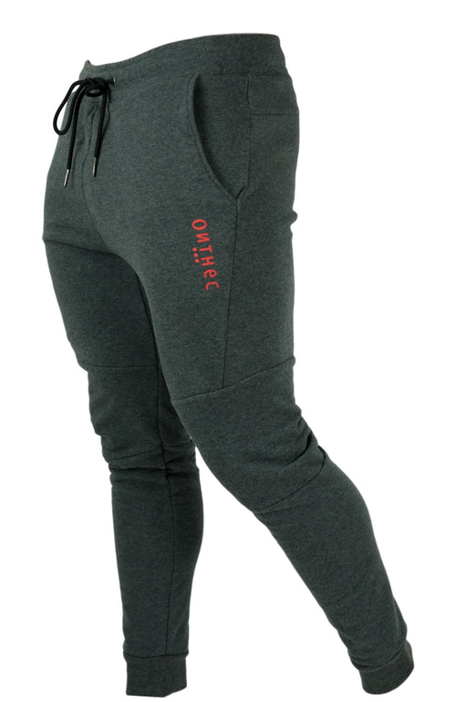 Tech Fleece Joggers V2.5 - Heather Grey/Red