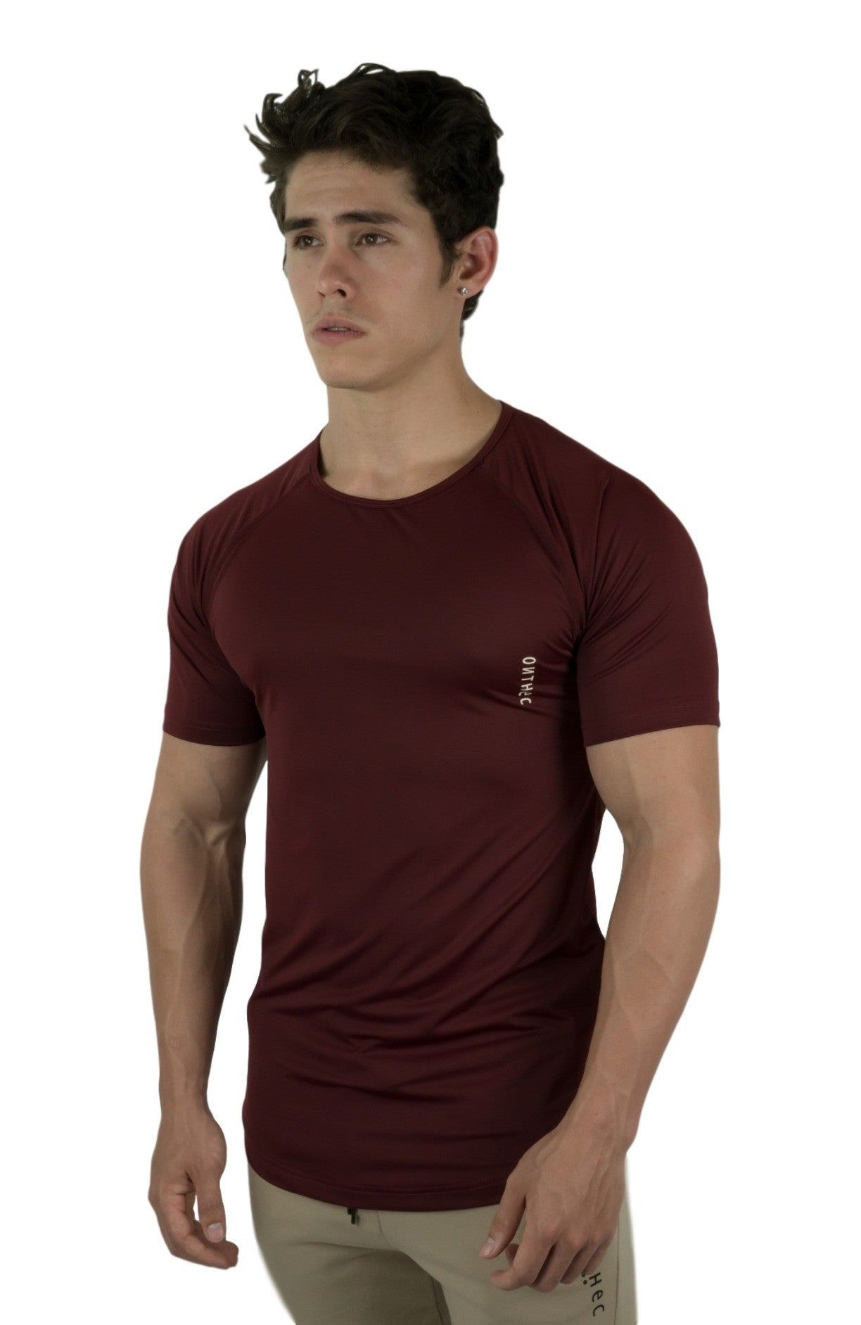 Lycra Fishtail Shirt - Crimson