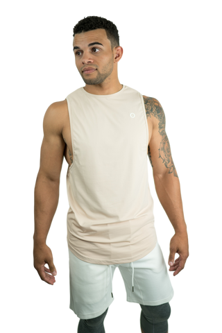 Lycra Cut Off T - Shadow Grey