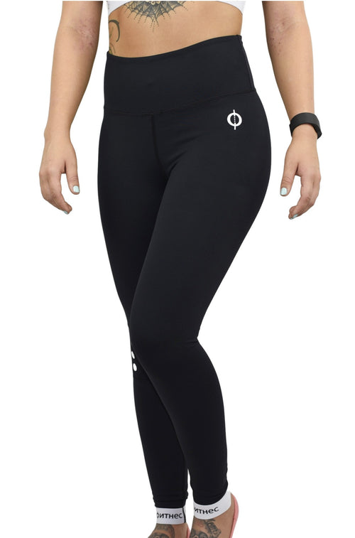 Elegance High Rise Leggings - Black
