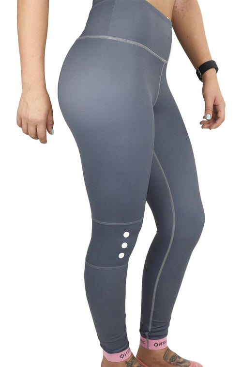 Elegance High Rise Leggings - Silk Grey